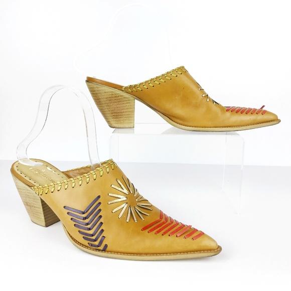 c6c0462ab1bea BCBGirls Shoes | Leather Western Mules Cowboy 9 Se | Poshmark